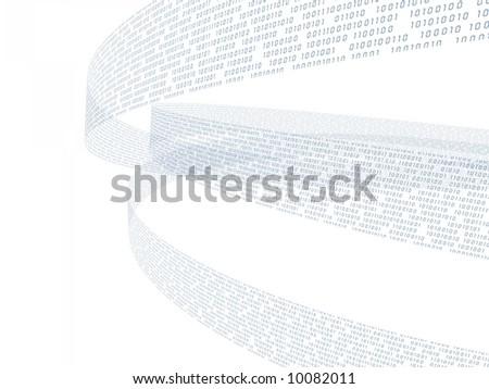 binary abstract - stock photo