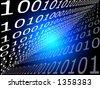 Binary board - stock photo
