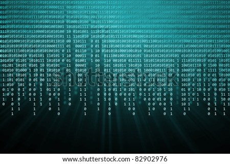 binary code - stock photo