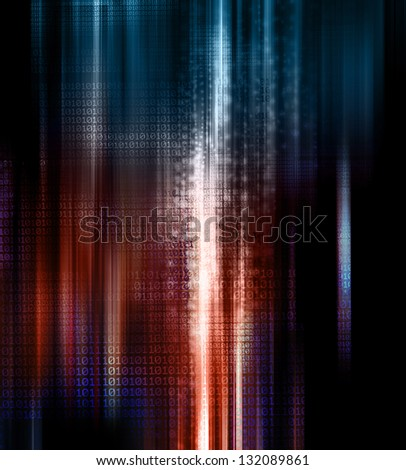 binary code background - stock photo
