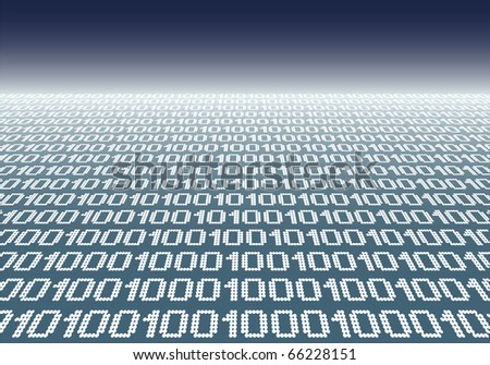 Binary code background. - stock photo