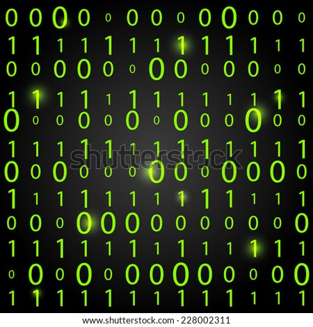Binary code background - concept of information technologies - stock photo