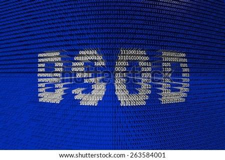 binary code bsod - stock photo
