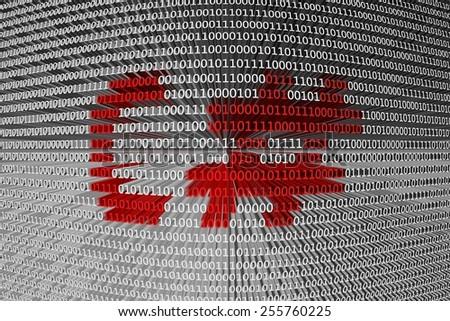 binary code C# - stock photo