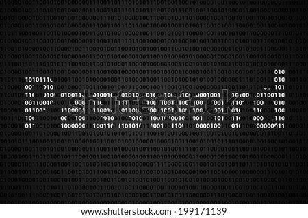 """Binary code concept with """"Password"""" text appear on white binary code - stock photo"""