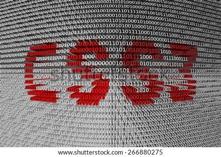 binary code css3 - stock photo