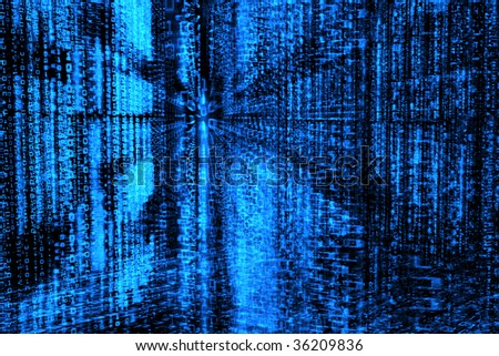 Binary code, data steam, technology background