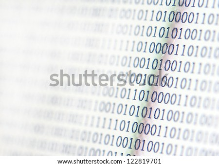 binary code display - stock photo