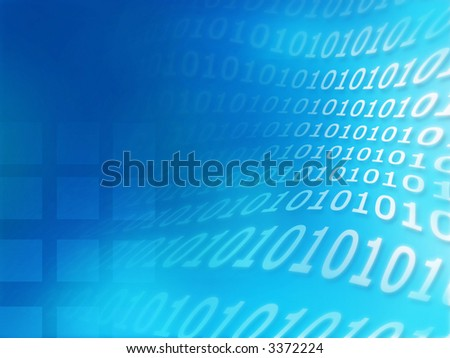 Binary code hi-tech abstract texture series - stock photo