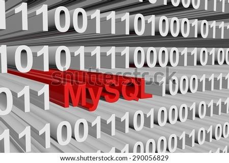 binary code MySQL - stock photo