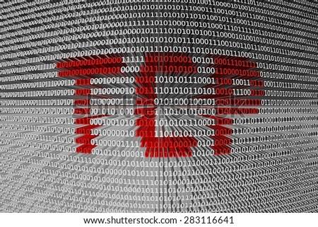 binary code Transmission Control Protocol - stock photo