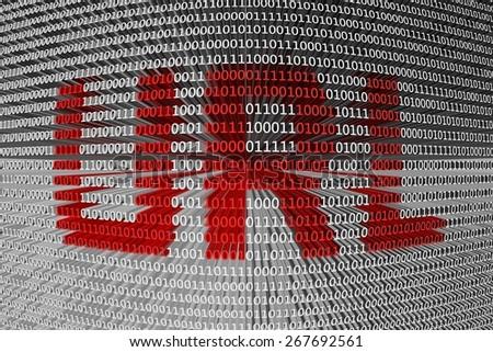 binary code Uniform resource locator - stock photo