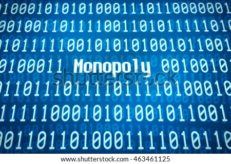 Binary code with the word Monopoly in the center