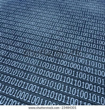 binary coding background - stock photo