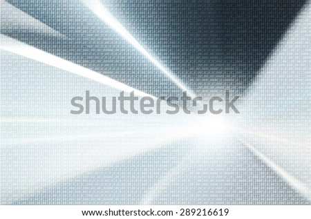 Binary numbers travel information on abstract blurred illustration background. Background with binary data and motion blurred silver blue colored background. - stock photo