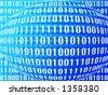 Binary world - stock photo