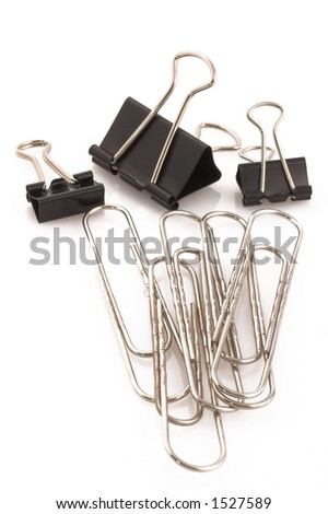 Binder and paper clips