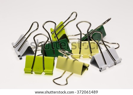 Binder Clips - stock photo