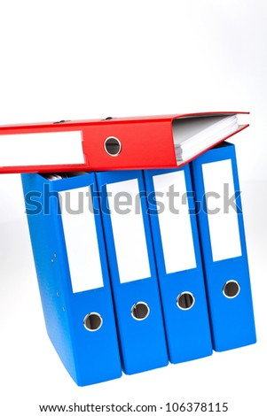 binder filled with documents and documents. retention of contracts. - stock photo