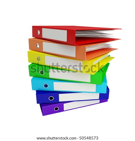 binder rainbow - stock photo