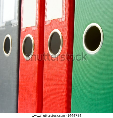 Binders Closeup - stock photo