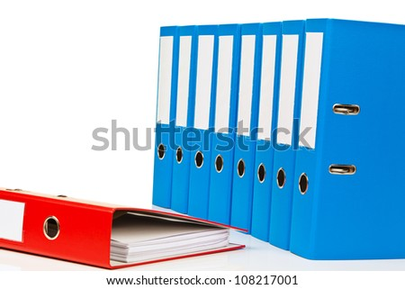 binders filled with documents and documents. retention of contracts.