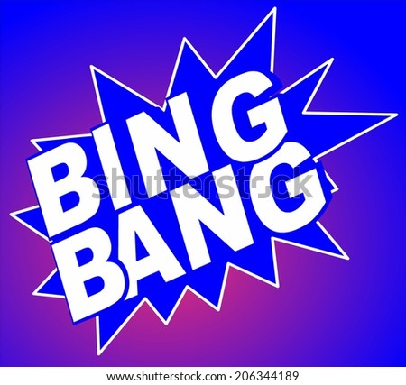 Bing Bang retro cartoon explosion