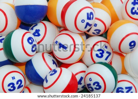 Bingo Ball Background - stock photo