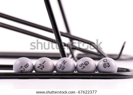 Bingo Balls Spelling Out BINGO - stock photo