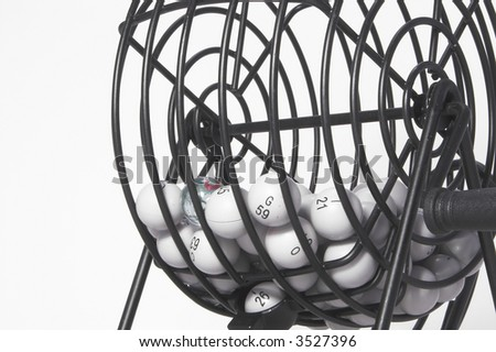 Bingo Cage - stock photo