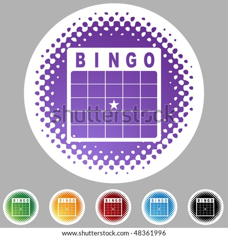 Bingo card web button isolated on a background - stock photo