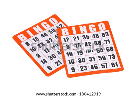 Bingo Cards - stock photo