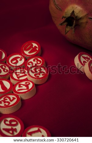 bingo numbers - stock photo