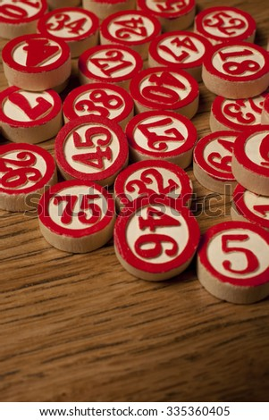 bingo tiles - stock photo