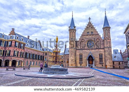 Binnenhof palace, place of dutch parliament in Hague (Den Haag), Holland, Netherlands