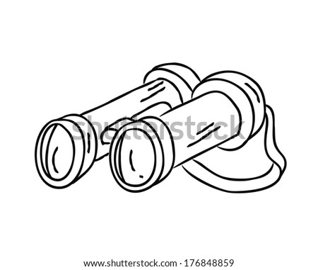 binocular doodle - stock photo