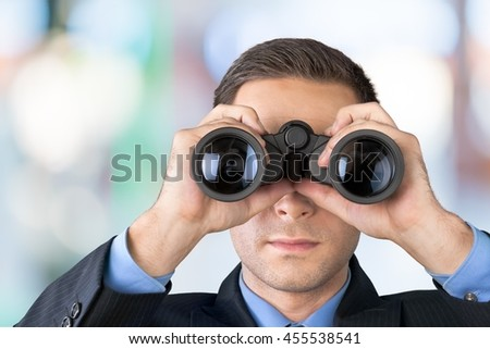 Binoculars. - stock photo