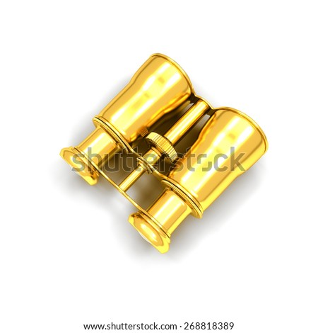 Binoculars isolated on white background - 3d render - stock photo