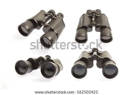 Binoculars Set - stock photo