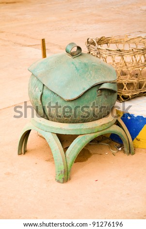 Bins made ??from tires. - stock photo