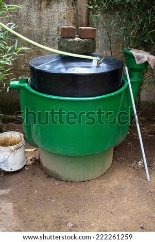 bio fuel plant. waste treatment. - stock photo