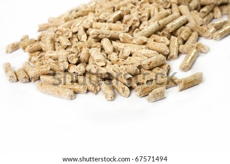 bio fuel - wood pellets - stock photo