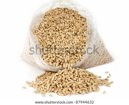 bio fuel - wooden pellets - stock photo