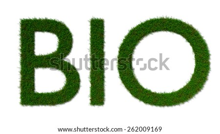 bio grass sign isolated on white background