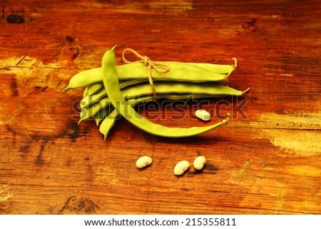 bio green beans - stock photo