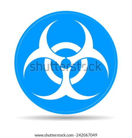 Bio hazard icon -  web illustration, easy paste to any background.