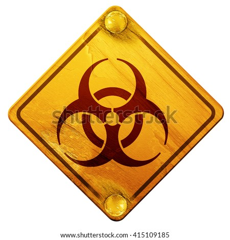 Bio hazard sign on a grunge background, 3D rendering, isolated g - stock photo