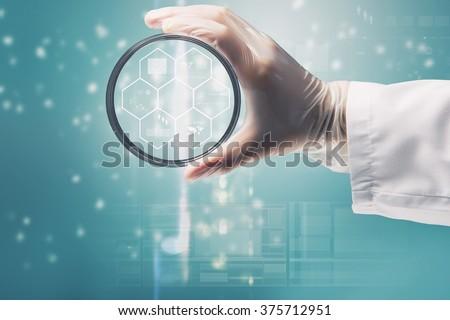 Biochemistry research test - stock photo