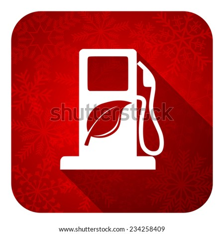 biofuel flat icon, christmas button, bio fuel sign  - stock photo