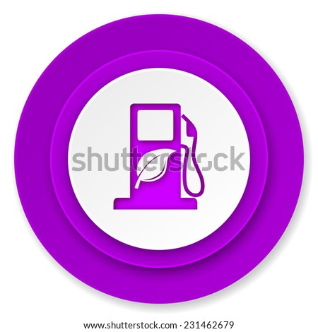 biofuel icon, violet button, bio fuel sign  - stock photo